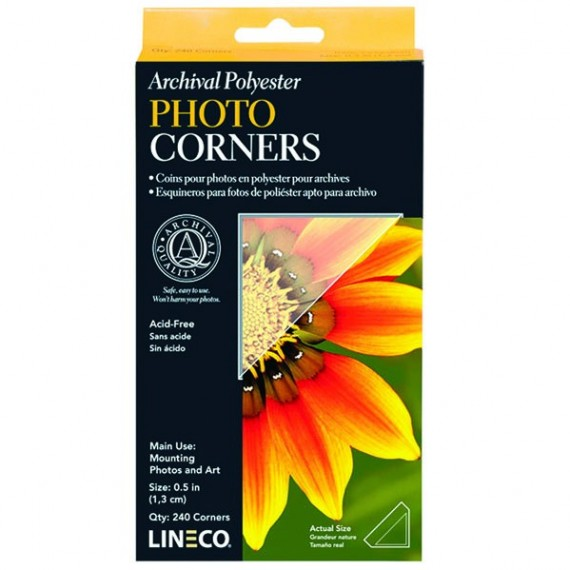 ANGLES POLYESTER POUR PHOTOS  SANS ACIDE - LINECO