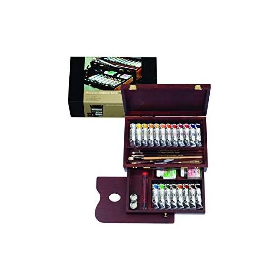 Coffret Acrylique REMBRANDT Master - Extra-fine - 20 Tubes de 40 ml + accessoires