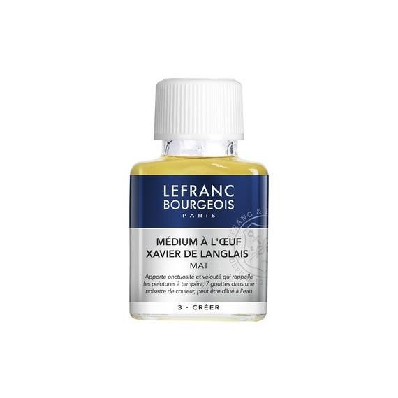 Médium huile LEFRANC & BOURGEOIS - Médium à l'œuf de X. Langlais - Flacon: 75 ml