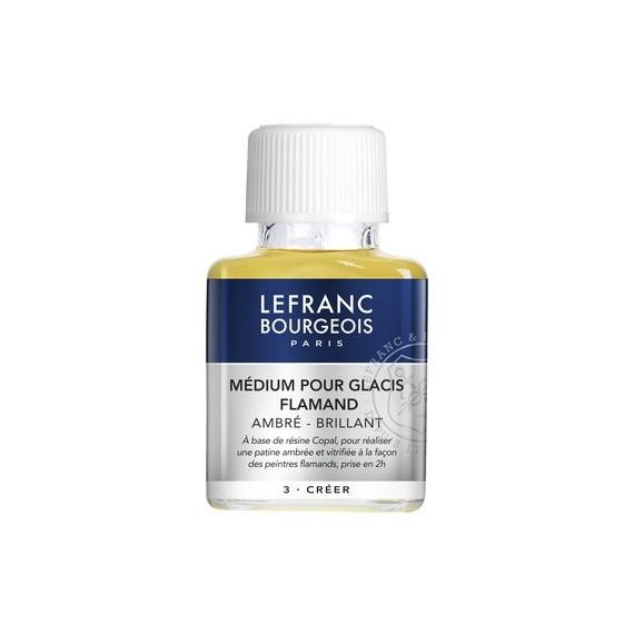 Médium huile LEFRANC & BOURGEOIS - Médium glacis siccatif Flamand - Flacon: 75 ml