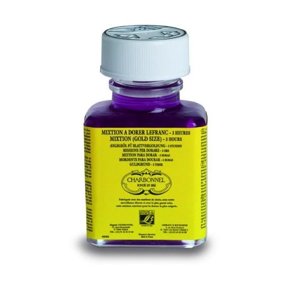 Mixtion à dorer CHARBONNEL - A l'huile - 3 Heures - Flacon:75 ml