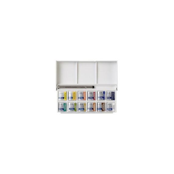 Boite aquarelle W&N Cotman - Fine - Sketcher - 12 1/2 godets 0390640 (Plastique)