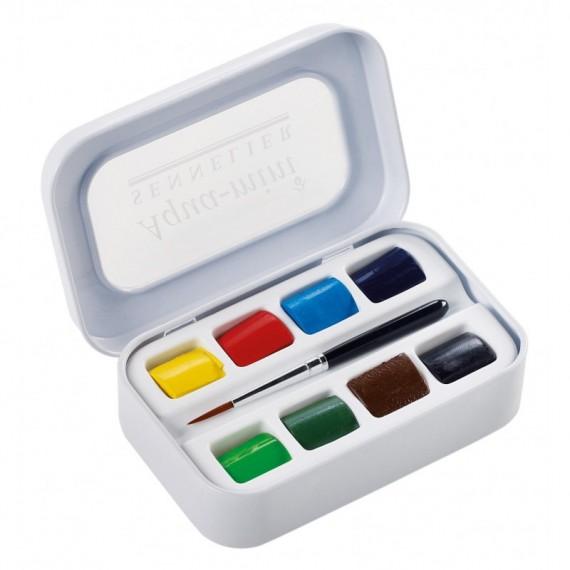 Boite aquarelle SENNELIER Aqua-mini - Extra-fine - 8 1/2 godets + 1 pinceau (Plastique) N131618