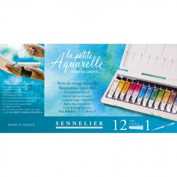 Boite aquarelle SENNELIER La petite aquarelle - Fine - 12 tubes (Plastique blanc)