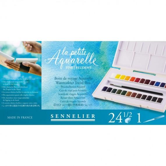 Boite aquarelle SENNELIER La petite aquarelle - Fine - 24 1/2 godets  (Plastique blanc)