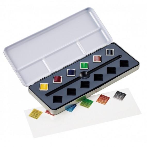Boite aquarelle SENNELIER Test pack - Extra-fine - 6 1/2 godets