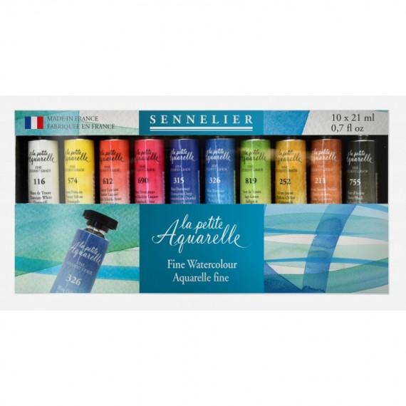Boite aquarelle SENNELIER La petite aquarelle - Fine - 10 tubes de 21 ml (Carton)