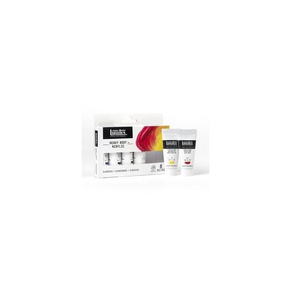 Set Acrylique LIQUITEX Basic - 6 Tubes de 22 ml