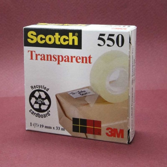 Adhésif SCOTCH 550 - Transparent - F: 19mm x 33m