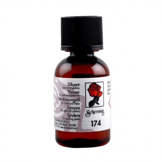 Diluant porcelaine SCHJERNING 174 - Diluant pour or et platine - Flacon: 25 ml
