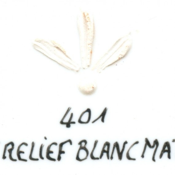 Couleur porcelaine SCHJERNING - pot de 8 gr - Blanc mat relief 401