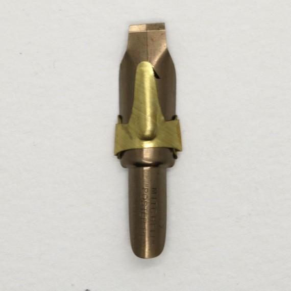 PLUME POSTER AVEC RESERVE BRONZE L18 - 8 MM