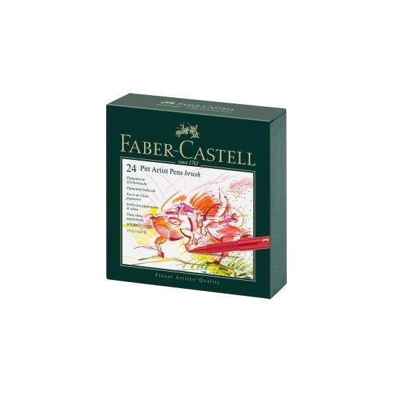 Boite feutre FABER & CASTELL Studio box  - 24 Feutres Pitt 167147 (Carton)
