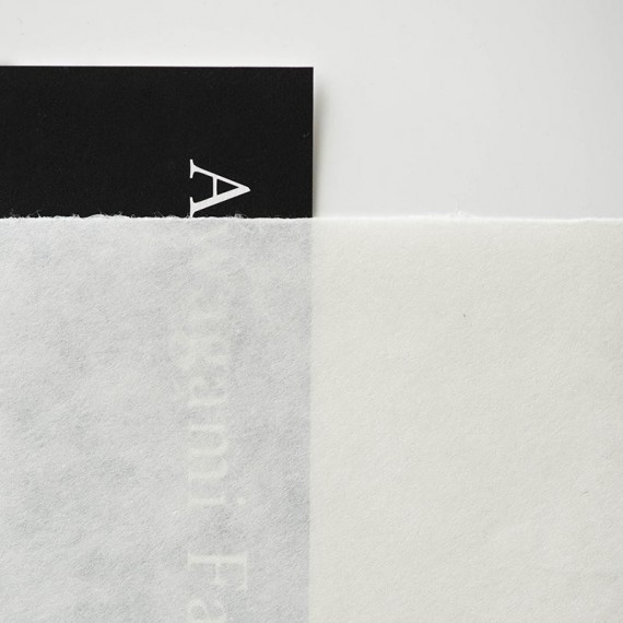 _Papier du monde AMT Kozo natural select  - 46g/m² - F:52 x 43 cm - 4 bords frangés