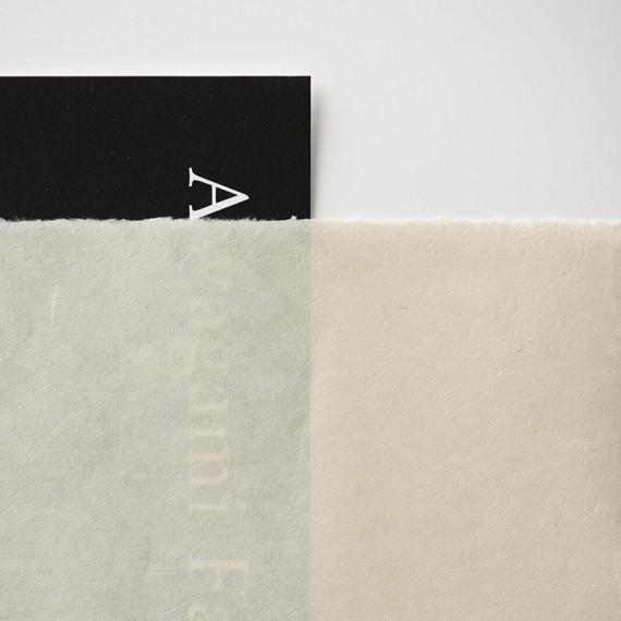 _Papier du monde AMT Kitakata Select - 90g - F:52x43 cm - 4 bords frangés
