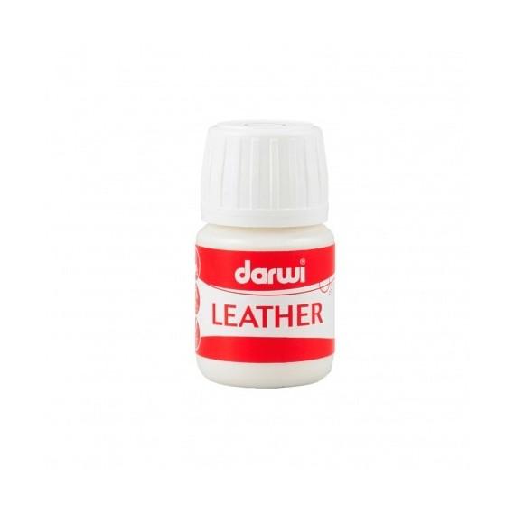 Peinture pour tissu DARWI LEATHER - Peinture pour cuir - Flacon: 30 ml - Blanc
