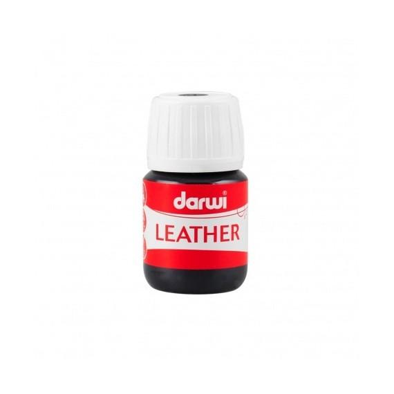 Peinture pour tissu DARWI LEATHER - Peinture pour cuir - Flacon: 30 ml - Noir