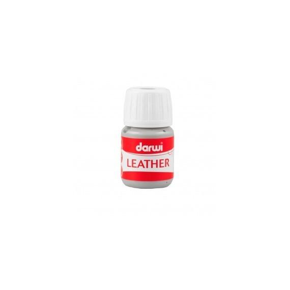 Peinture pour tissu DARWI LEATHER - Peinture pour cuir - Flacon: 30 ml - Gris froid