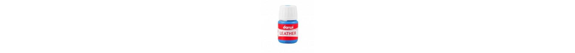 Peinture pour tissu DARWI LEATHER - Peinture pour cuir - Flacon: 30 ml - Bleu clair