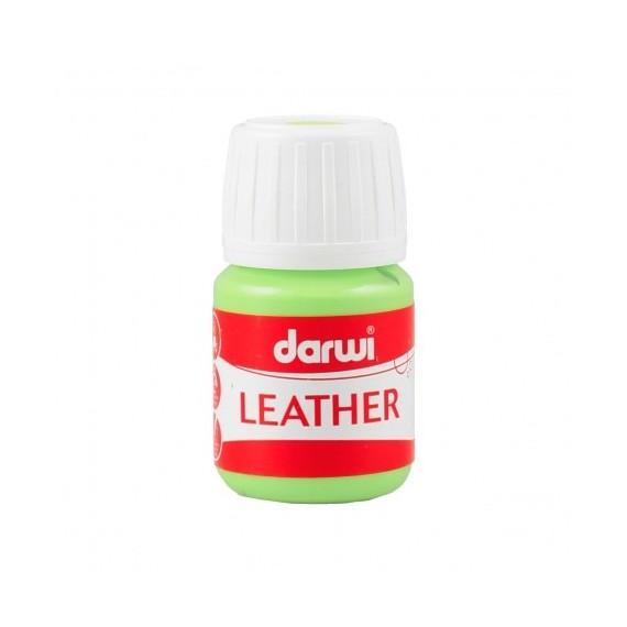 Peinture pour tissu DARWI LEATHER - Peinture pour cuir - Flacon: 30 ml - Vert anis
