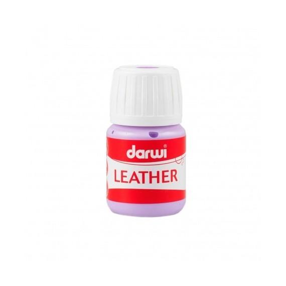 Peinture pour tissu DARWI LEATHER - Peinture pour cuir - Flacon: 30 ml - Lilas
