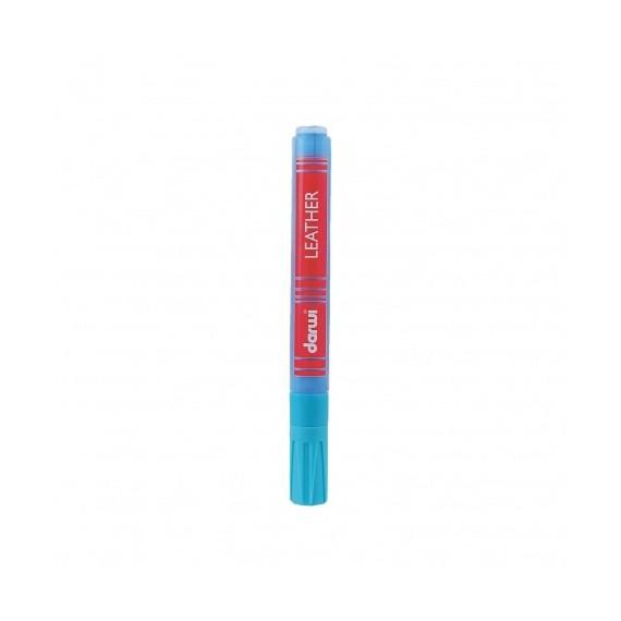 Feutre pour tissu DARWI LEATHER - Feutre pour cuir - Flacon: 6 ml - Bleu clair