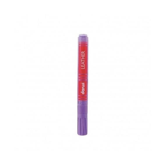 Feutre pour tissu DARWI LEATHER - Feutre pour cuir - Flacon: 6 ml - Violet