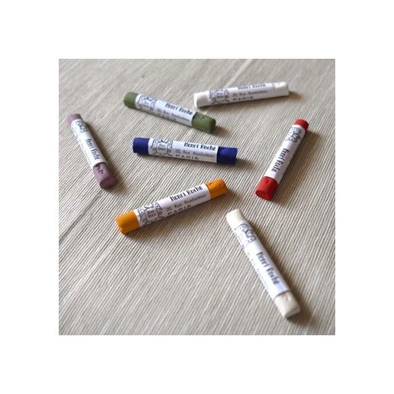 Coffret pastel tendre ROCHE - Pour 12 Pastels tendre irisés - Joyaux (Bois)