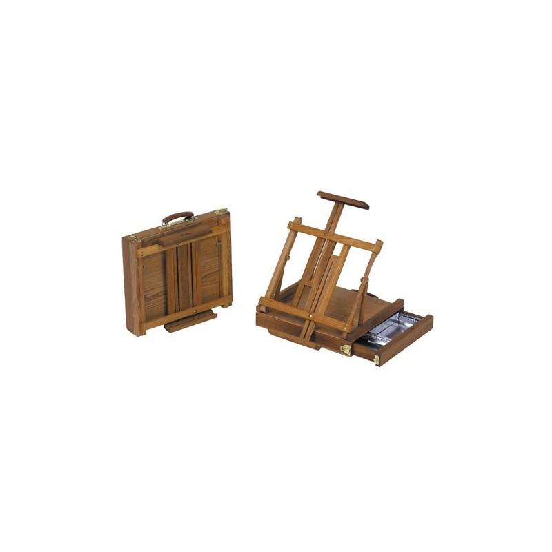 Boite chevalet RS - Travel de table - En orme huilé
