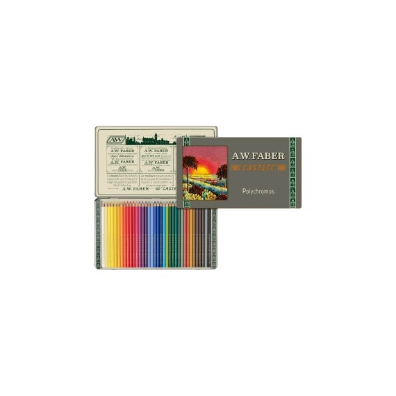 Boite crayon de couleur FABER & CASTELL Polychromos 111 ans - 36 crayons Polychromos 110012 (Métal)