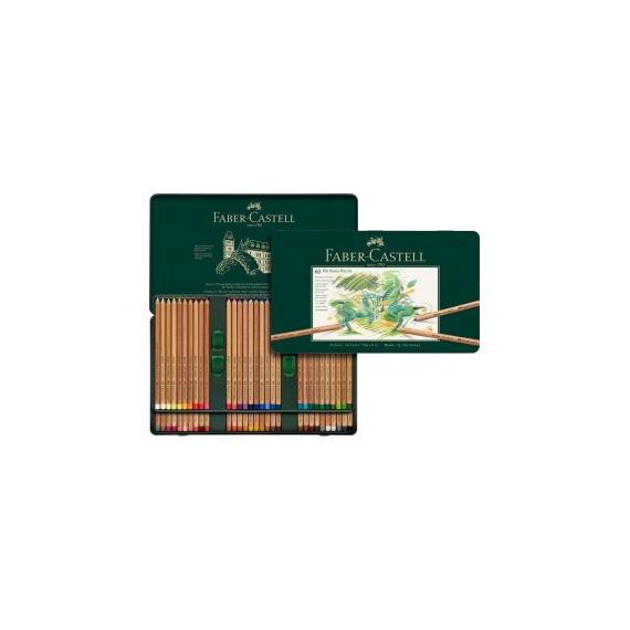 Boite craie FABER & CASTELL Pitt - 60 pastels assortis 112160 (Métal)