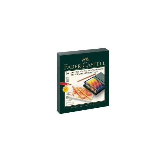 Boite crayon de couleur FABER & CASTELL Studio box - 36 crayons Polychromos (Carton)