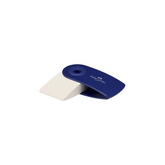 Gomme FABER & CASTELL Mini Sleeve - Avec fourreau Rouge ou Blanc - 182411