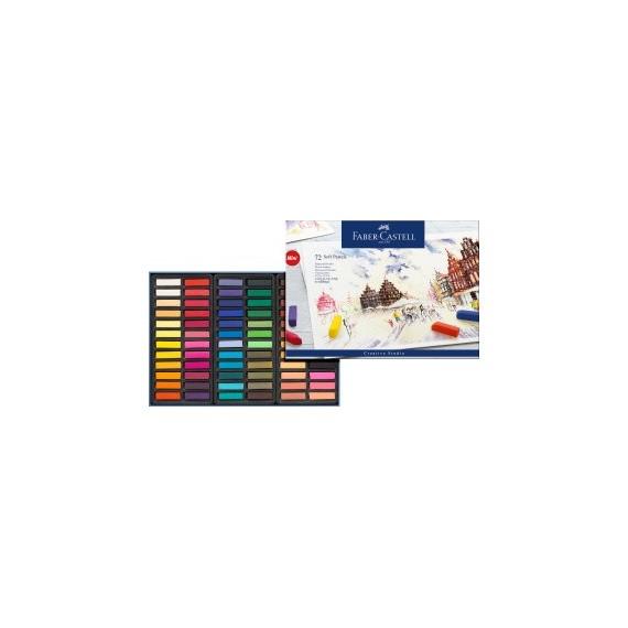 Boite pastel sec  FABER & CASTELL - 72 1/2 pastels  128272 (Carton)