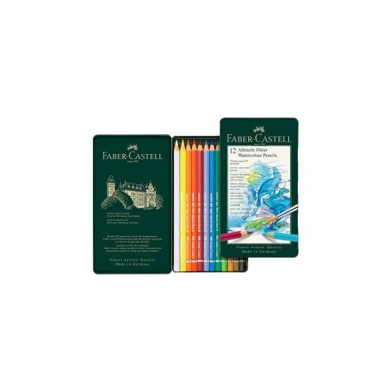 Boite crayon aquarelle FABER & CASTELL Albrecht Durer - 12 crayons assortis 117512 (Métal)