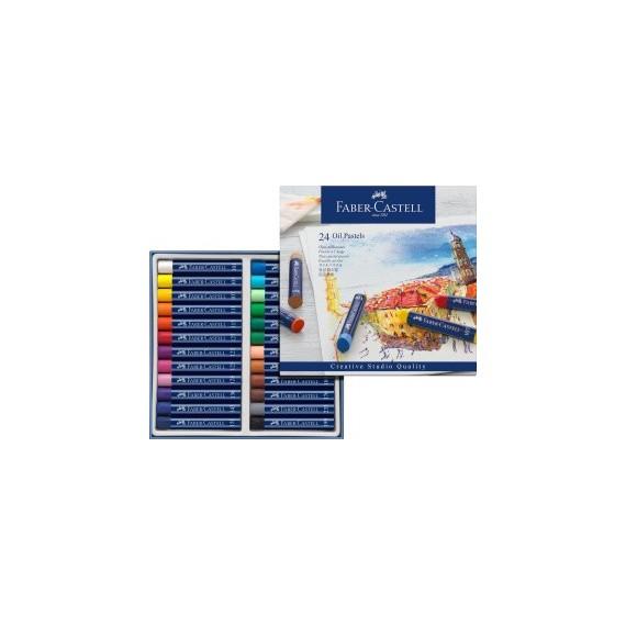 Boite pastels à l'huile FABER & CASTELL Créative studio - 24 Pastels à l'huile - 127024