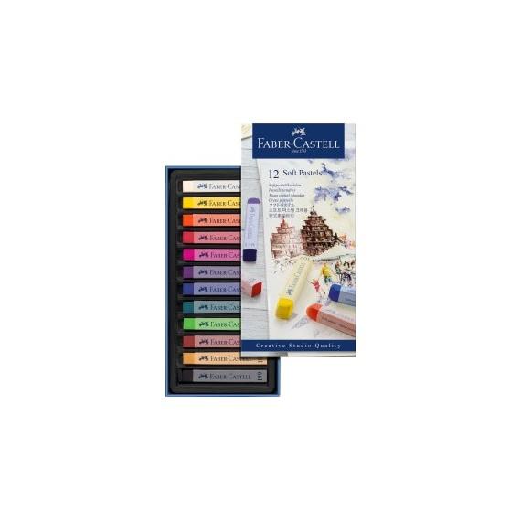 Boite pastel sec FABER & CASTELL Créative studio - 12 Pastels sec - 128312