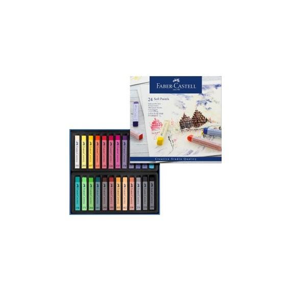 Boite pastels sec FABER & CASTELL Créative studio - 24 Pastels secs - 128324