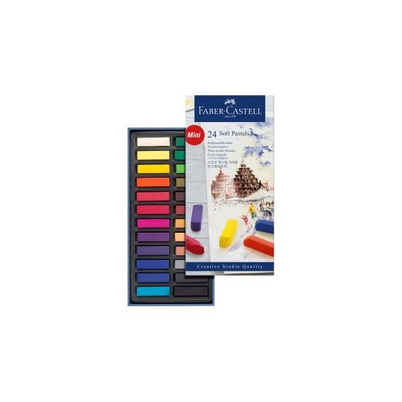 Boite pastel sec FABER & CASTELL - 24 1/2 pastels  128224 (Carton)