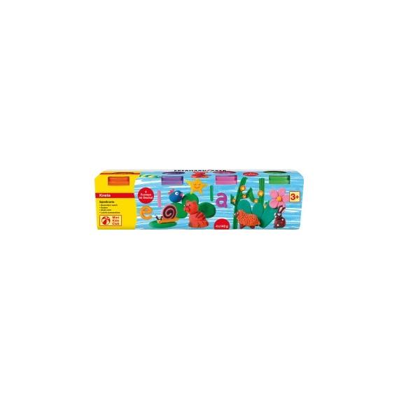 Boite pâte à modeler FABER & CASTELL - Set pastel de 4 pains 572510