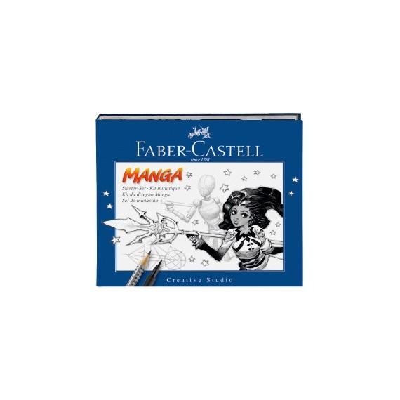 Etui feutre FABER & CASTELL Pitt - Artist pen - Manga - Pochette de 3 + 1 crayon