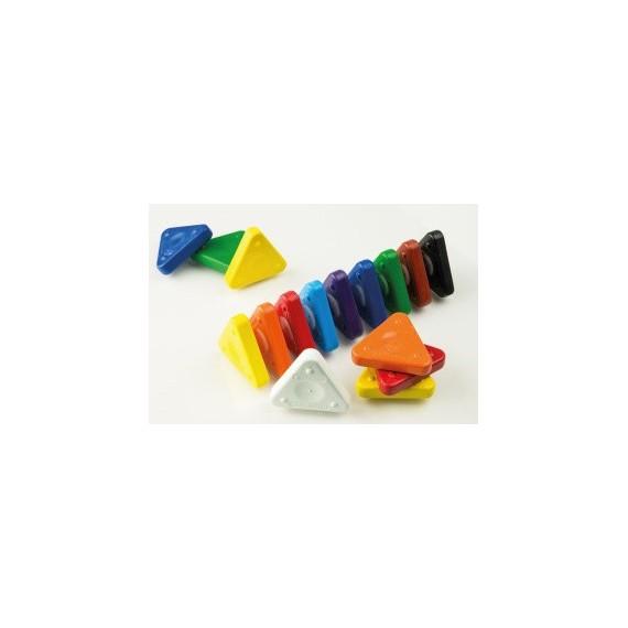 Boite craie à la cire FABER & CASTELL - 30 Triangles à la cire (Plastique)