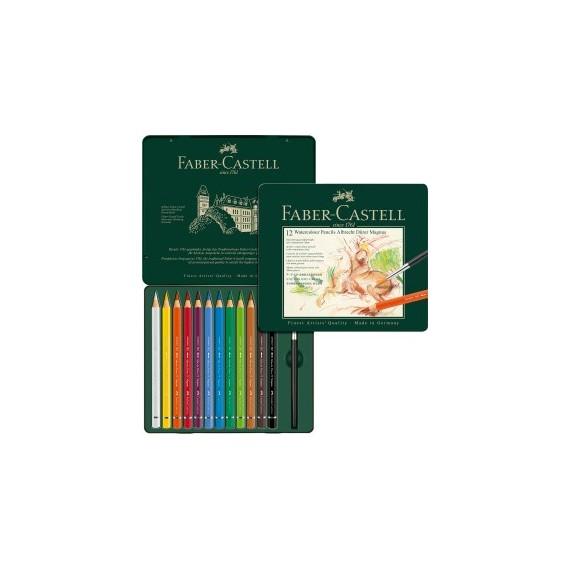 Boite crayon aquarelle FABER & CASTELL Abrecht Durer - Magnus - 12 crayons 116912 (Métal)