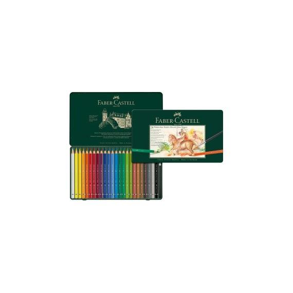 Boite crayon aquarelle FABER & CASTELL Abrecht Durer - Magnus - 24 crayons 116924 (Métal)
