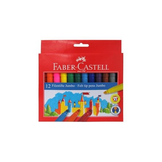 Boite feutre FABER-CASTELL Château jumbo - 12 Feutres