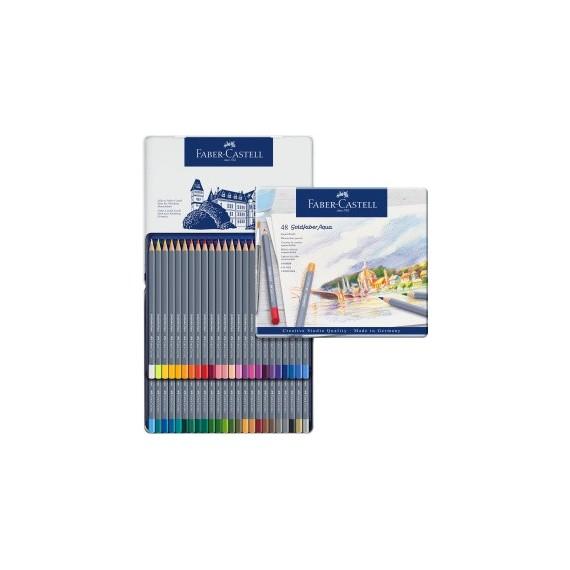 Boite crayon aquarelle FABER GOLDFABER - 48 crayons assortis 114648 (Métal)