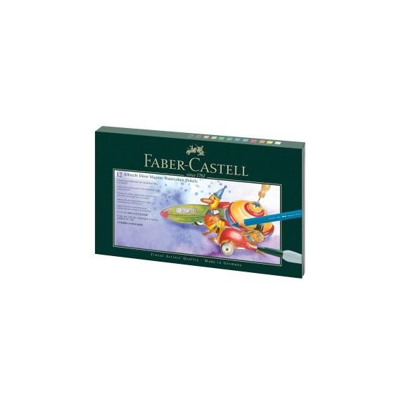 Boite crayon aquarelle FABER & CASTELL Abrecht Durer - Magnus - 12 crayons + accessoires (Carton)
