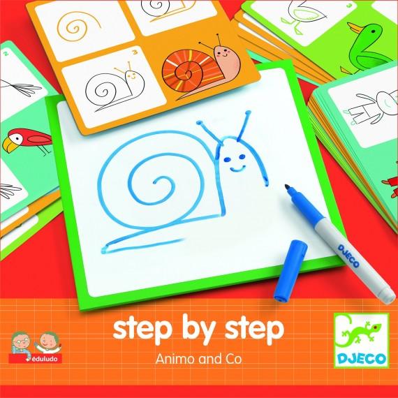 Eduludo DJECO - Step by step - Animals & co