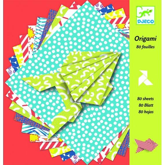 ORIGAMI - 80 FEUILLES PAPIERS D'ORIGAMI - COMICS