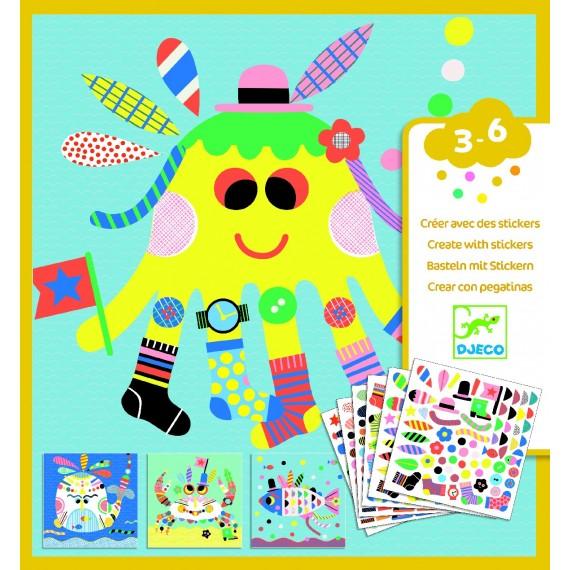 Créer avec des stickers DJECO - Marins